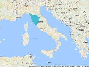 Tuscany in Mediterranean Sea