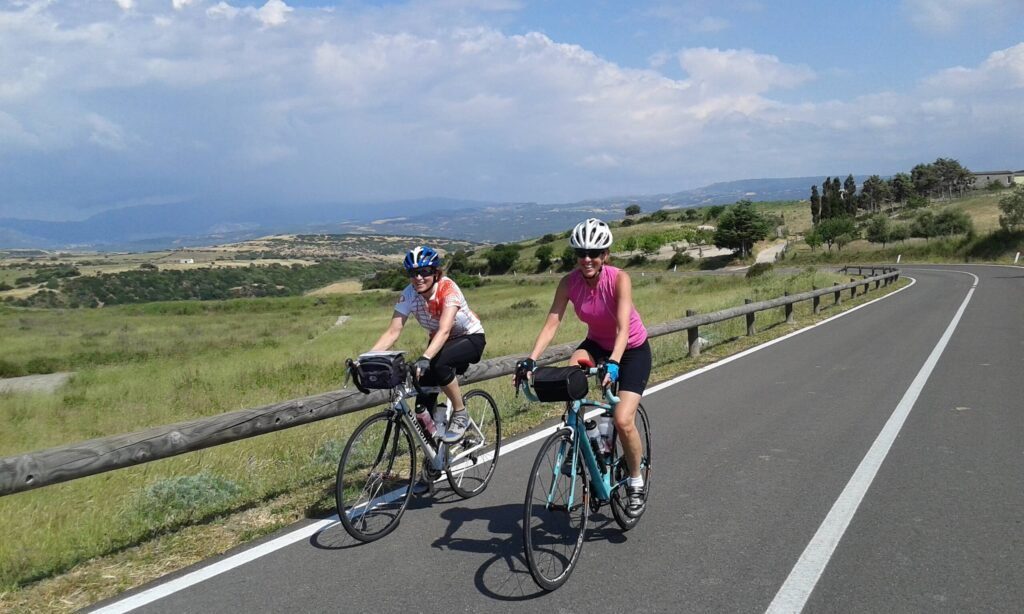 Ladies cycling in Sardinia