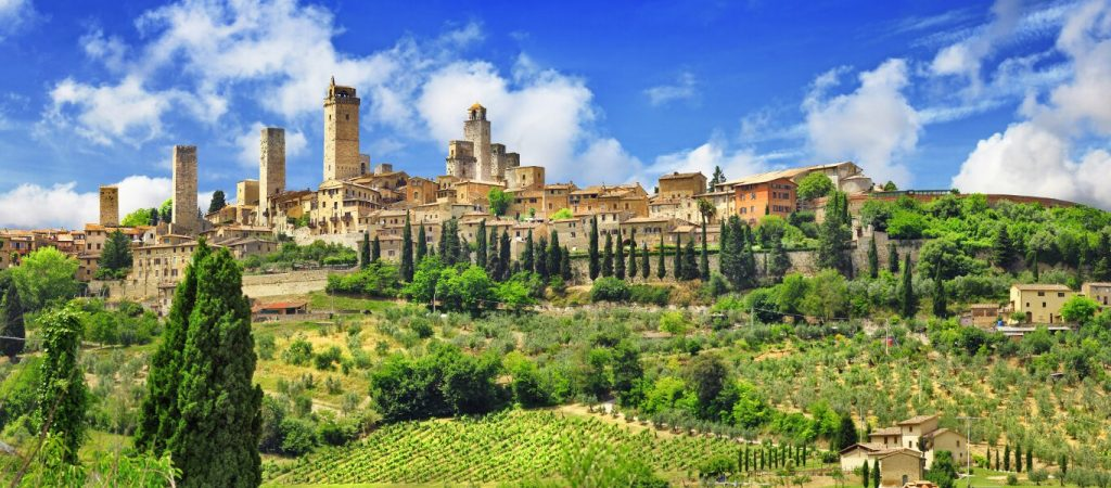 Tuscany: a typical medieval small town