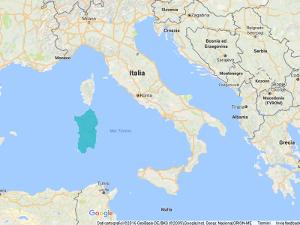 Sardinia in Mediterranean Sea
