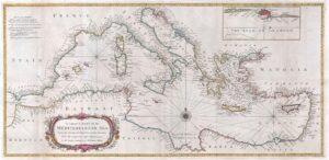 Mediterraean Old Map