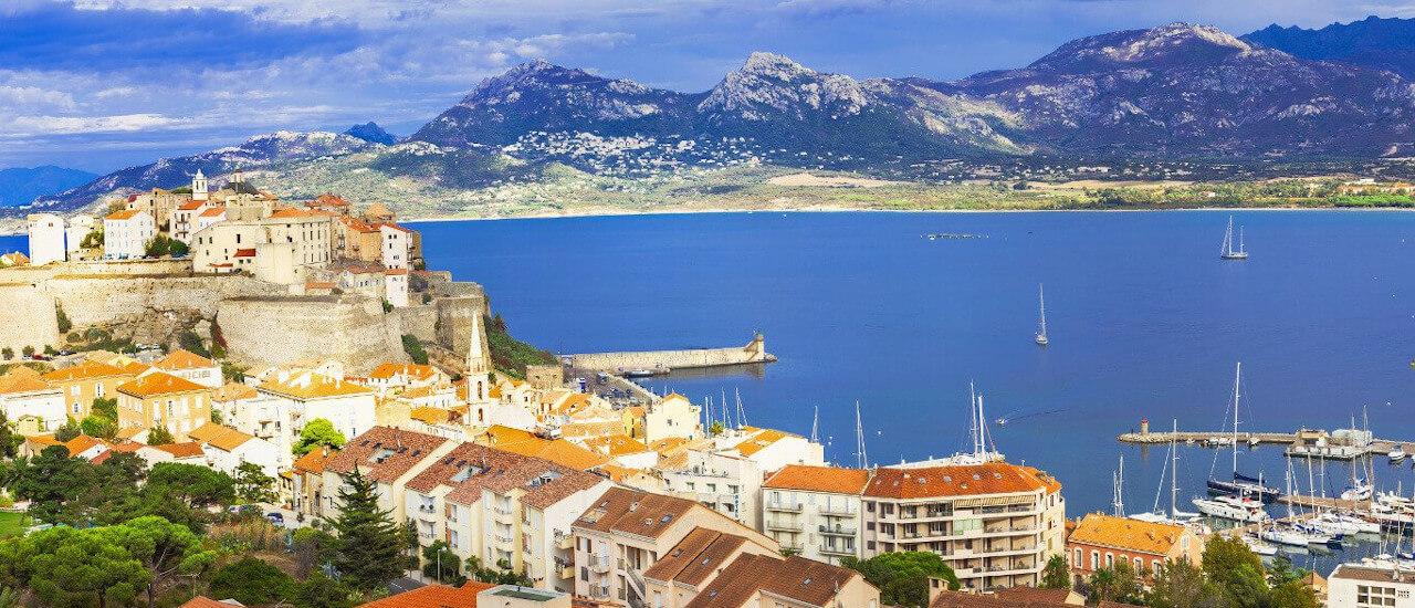 Calvi harbor in Corsica