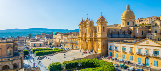 Sicily, the Noto cathedral