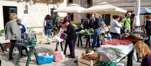 A market in Split